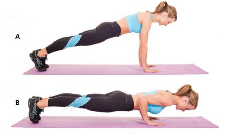 Women Triceps Pushup workout