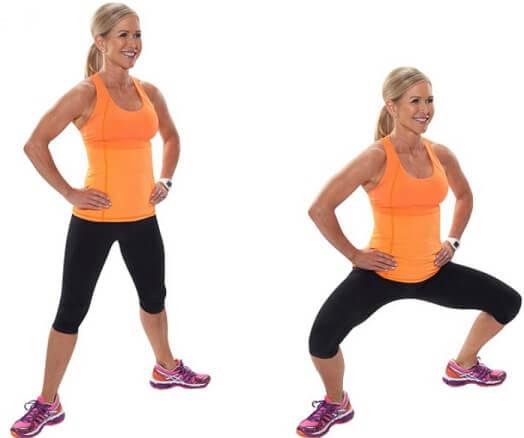Plie Squat for Women Glutes workout