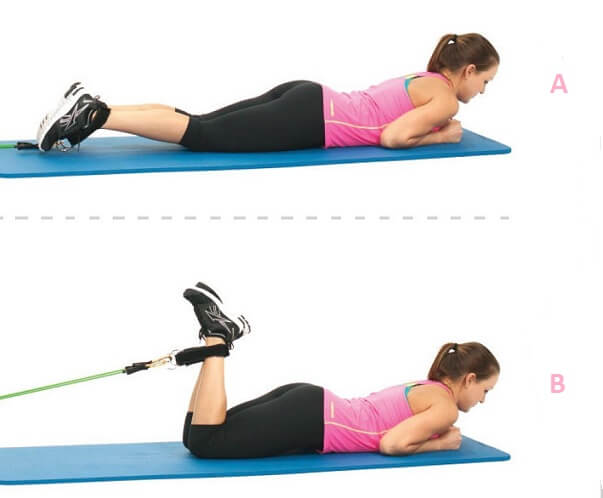 Hamstring Curl with resistance band