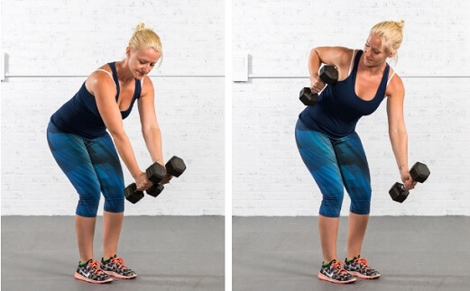 Alternate Bent Over Row for Women Lats