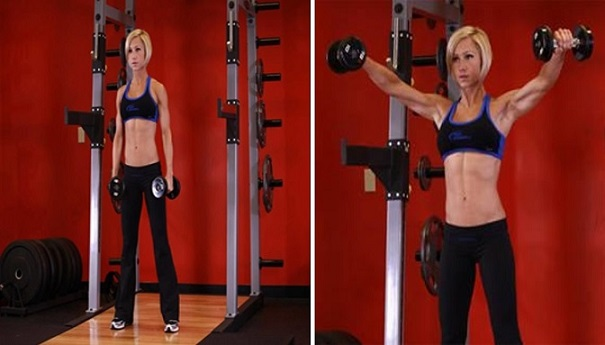 Side Lateral Raise workout women