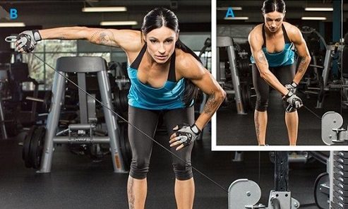 Bent over Low-Pulley women workout