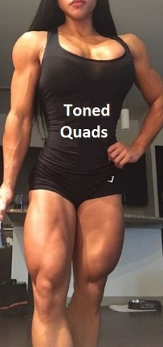 Toned Quad Muscles
