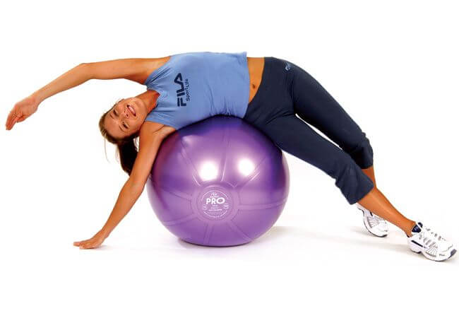 Yoga Ball Oblique Stretch