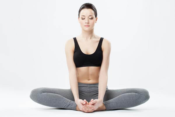 inner thigh stretches butterfly pose