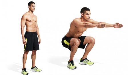 quad exercise 1 - Body Weight Squat (Quads)