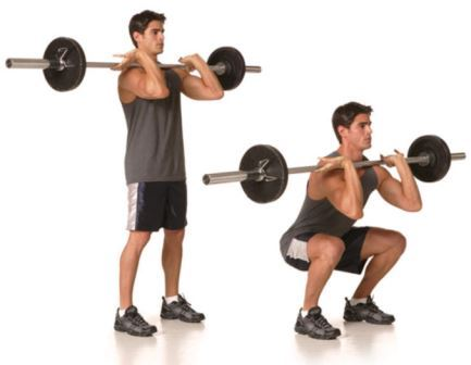 quad exercise 2 - Barbell Front Squat