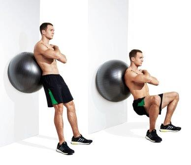 quad exercise 3 - Wall Sit