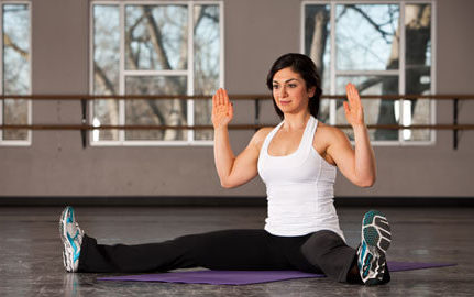 straddle Side Leaning Oblique Stretch