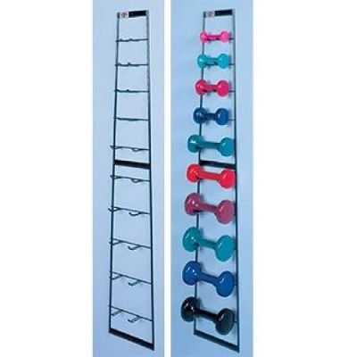 Wall Mounted dumbbell rack at home