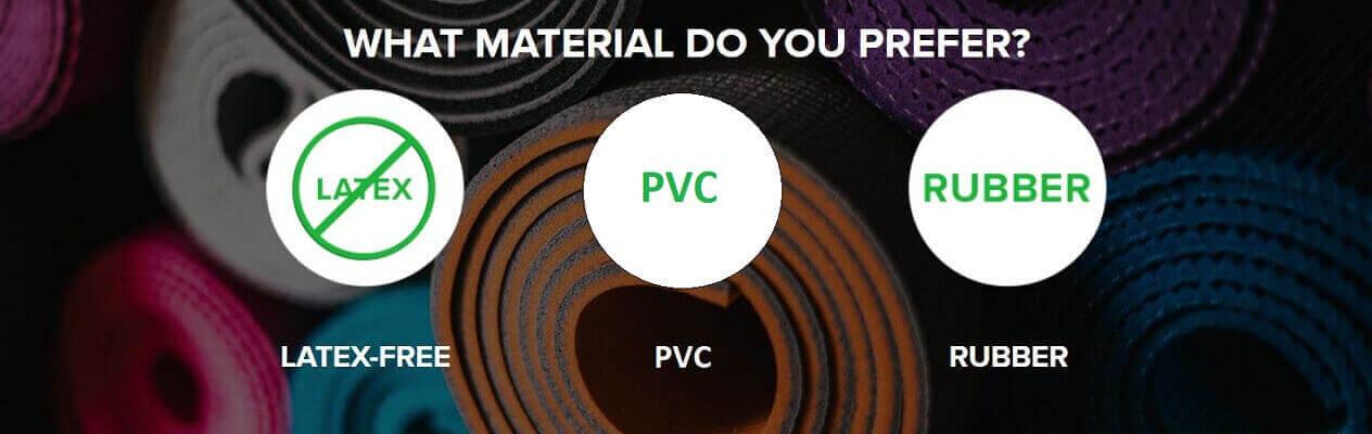 yoga mat material you prefer